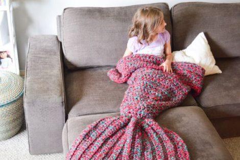 mermaid lap blanket
