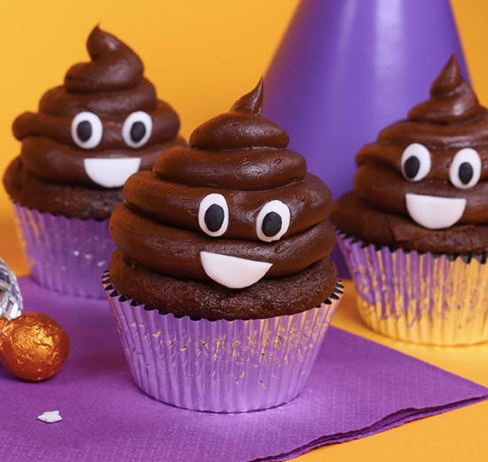 poo party cupcakes