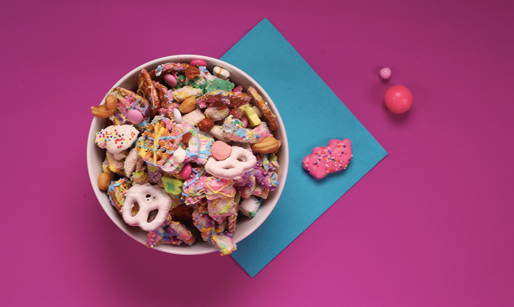 Hypercolor Chex Mix - Unicorn Party Mix Recipe From - Cookbook