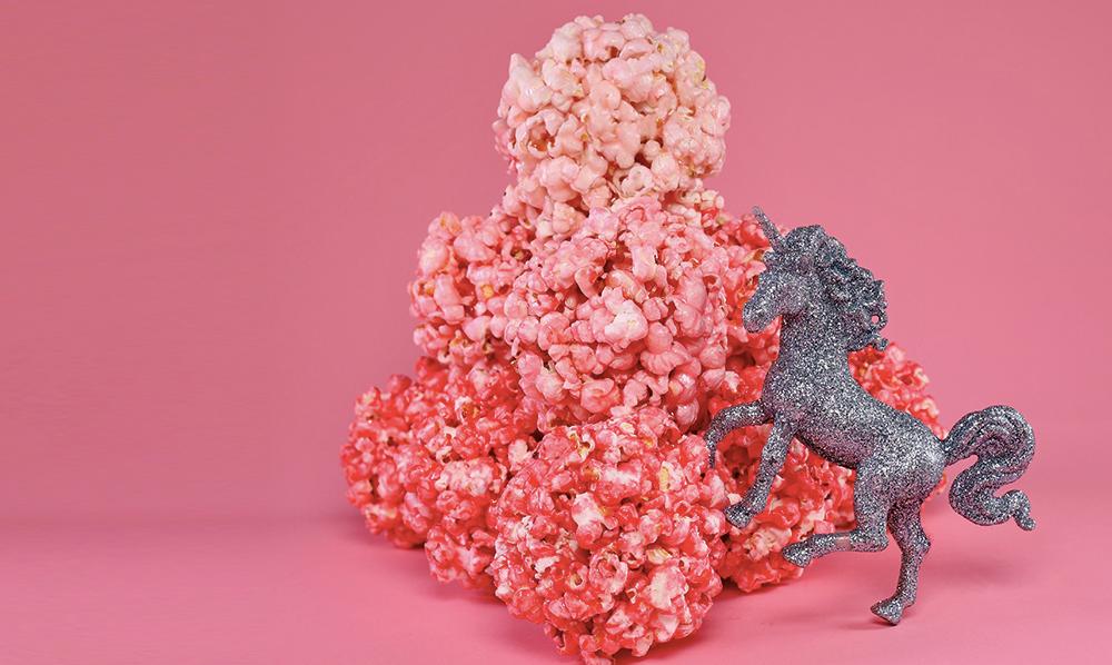 unicorn popcorn balls