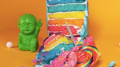 Rainbow Cake recipe Unicorn Cookbook: Easy To Bake!